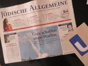 ZUGINSFELD am 19. Juli 2014 aktuell: KÖLNER LICHTER mit Zeitungstitel