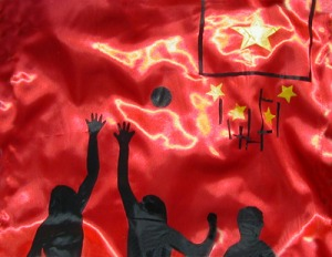 sportflagge_china_volleyball