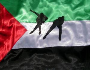 DIETMAR MOEWS SPORTFLAGGE Palästina Eisschnelllauf