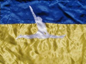 DIETMAR MOEWS Sportflagge  Ukraine Bodenturnen