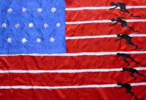 DIETMAR MOEWS Sportflagge USA - Doping-Sprint