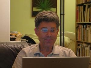 Dietmar Moews schreibt Lichtgeschwindigkeit, Juli 2014 in Köln