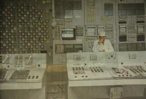 Kontrollraum von Tschernobyl heute, 2014