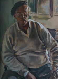 """Walter Boeckh / Böckh """"Selbstportrait"""" Ölmalerei"""